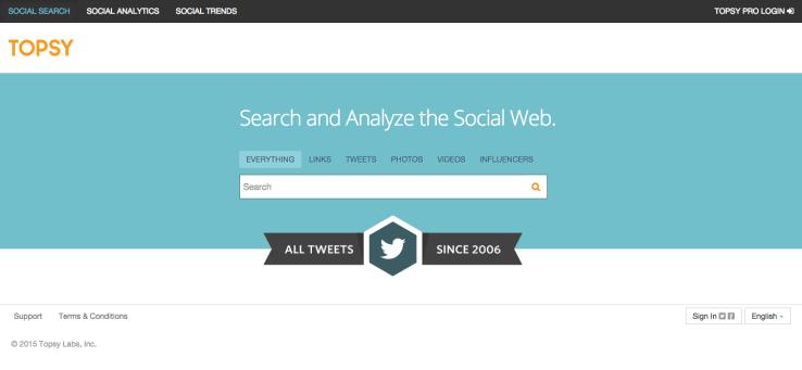 topsy site analizi
